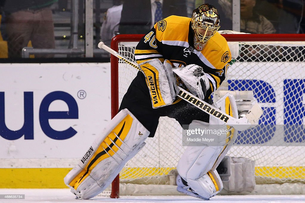 <a gi-track='captionPersonalityLinkClicked' href=/galleries/search?phrase=Tuukka+Rask&family=editorial&specificpeople=716723 ng-click='$event.stopPropagation()'>Tuukka Rask</a> #40 of the Boston Bruins reacts after saving a shot by Nazem Kadri #43 of the Toronto Maple Leafs winning the game for the Boston Bruins during a shootout at TD Garden on April 4, 2015 in Boston, Massachusetts. The Bruins defeat the Maple Leafs 2-1.