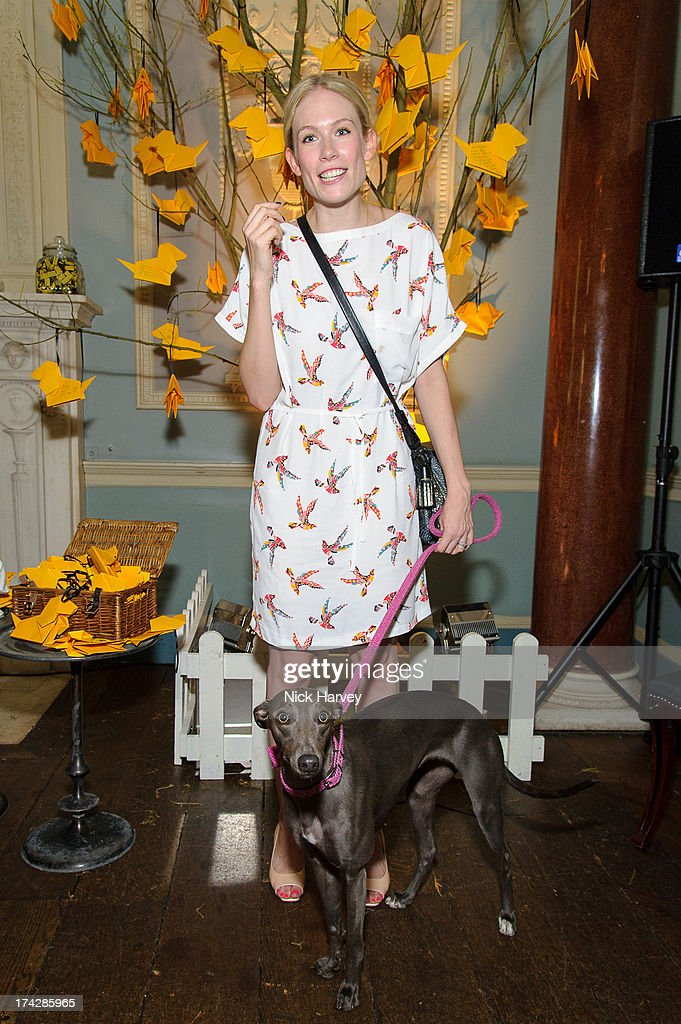 Tuuli Shipster and Beans attend the Dogs Trust Honours 2013 at Home House on July 23, 2013 in London, England.