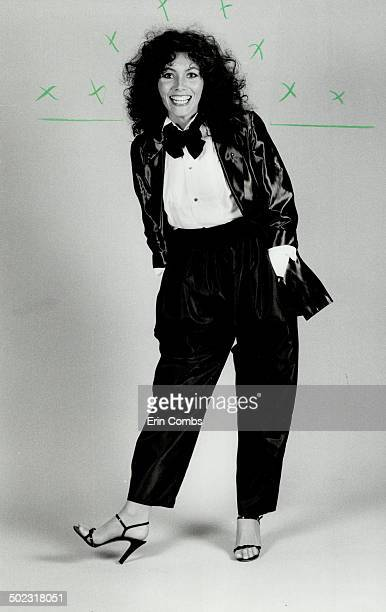 Tuxedo look Actress Kerrie Keane above starring in Theatre Plus' production of Talley's Folley will wear a gray shot taffeta blazer Oscar Wilde silk...