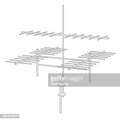 tv antenne : Stock Photo