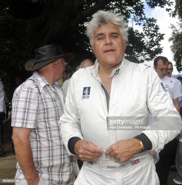 US tv chat show host Jay Leno during the Goodwood Festival of Speed in Chichester West Sussex