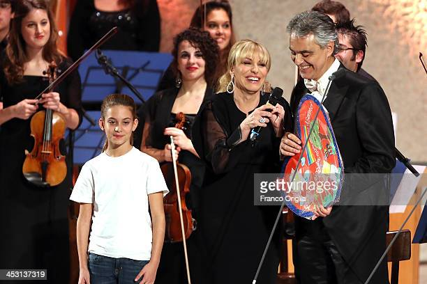Tv conductor Antonella Clerici and Italian tenor and singersongwriter Andrea Bocelli attend a benefit concert for the Pediatric Hospital 'Bambino...