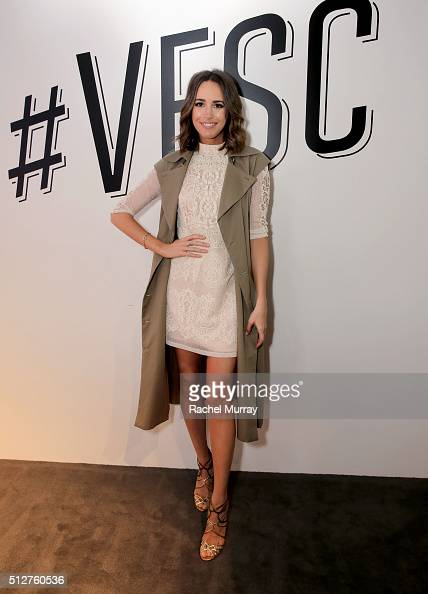 Tv Host and Front Roe blogger Louise Roe poses onstage after the panel 'A New Paradigm The Power Of The Social Influencer' during the 2016 Vanity...