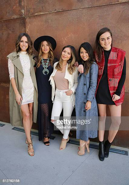 Tv Host and Front Roe blogger Louise Roe RockyBarnes blogger Rocky Barnes Life With Me blogger Marianna Hewitt WendyÕs Lookbook blogger Wendy Nguyen...