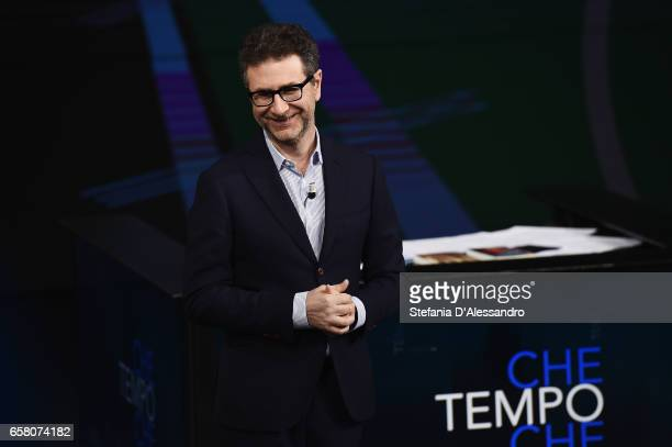 Tv host Fabio Fazio attends 'Che Tempo Che Fa' tv show on March 26 2017 in Milan Italy