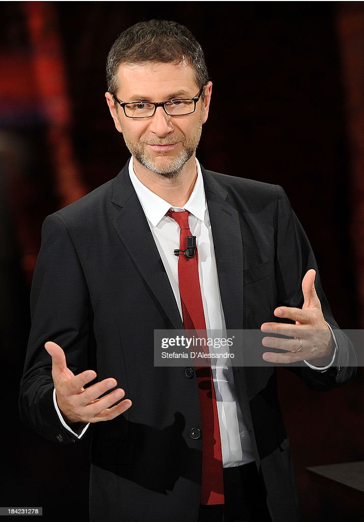 Tv host Fabio Fazio attends 'Che Tempo Che Fa' TV Show on October 12, 2013 in Milan, Italy.