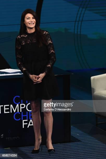 Tv host Ilaria D'Amico attends 'Che Tempo Che Fa' tv show on March 26 2017 in Milan Italy