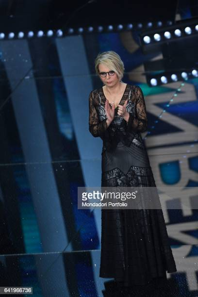 Tv host Maria De Filippi at 67th Sanremo Music Festival 5th night Sanremo February 11 2017