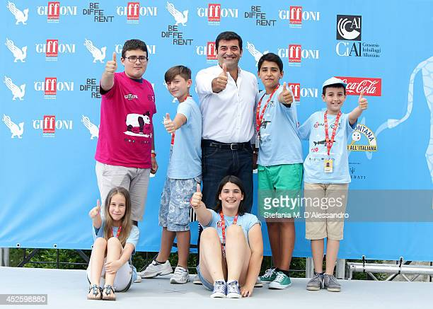 Tv host Max Giusti attends Giffoni Film Festival photocall on July 24 2014 in Giffoni Valle Piana Italy