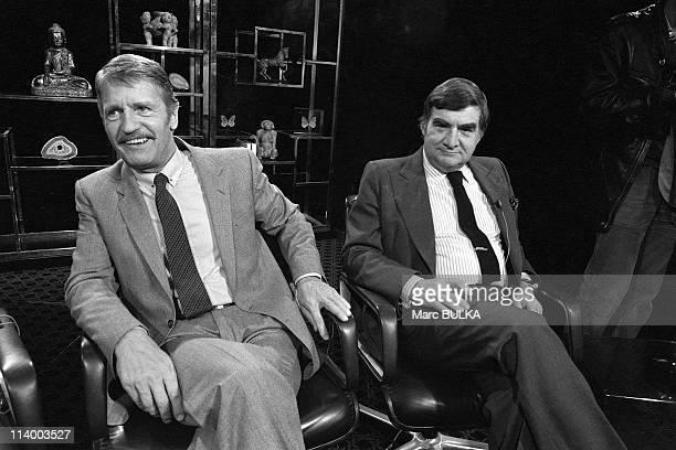 Tv 'Les Dossiers De L'Ecran' In Paris France On September 23 1980Claude Marti Pierre Salinger