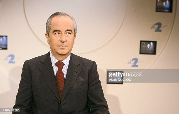 Tv 'L'Heure De Verite' With Edouard Balladur On January 6Th 1988 In ParisFrance