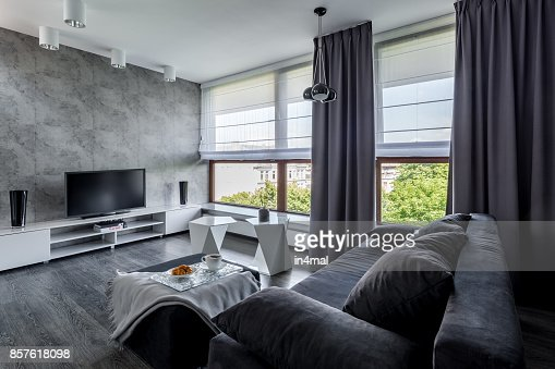 Tv living room with couch : Stock Photo