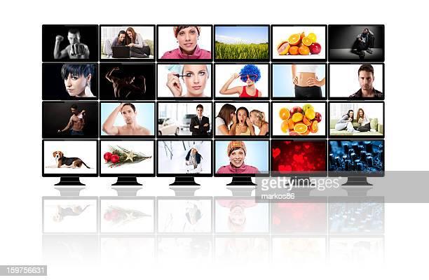 Multimédia téléviseur à écran plat