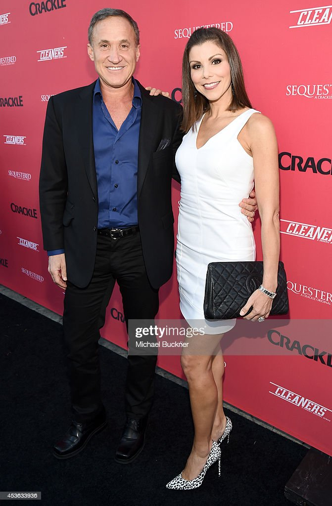 Tv persoanlity Dr. Terry Dubrow (L) and actress Heather Dubrow attend Crackle Presents: Summer Premieres Event for originals, 'Sequestered' and 'Cleaners' at 1 OAK on August 14, 2014 in West Hollywood, California.