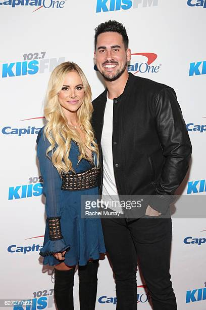 Tv personalities Amanda Stanton and Josh Murray attend 1027 KIIS FM's Jingle Ball 2016 presented by Capital One at Staples Center on December 2 2016...