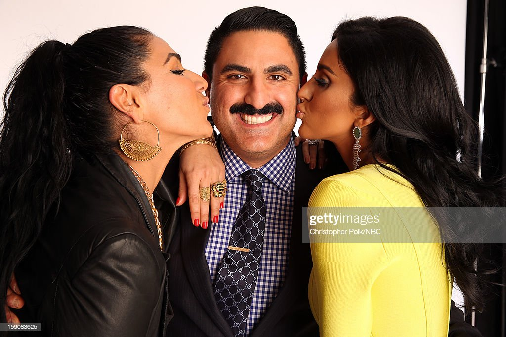 Tv personalities Asa Soltan Rahmati, <a gi-track='captionPersonalityLinkClicked' href=/galleries/search?phrase=Reza+Farahan&family=editorial&specificpeople=9012581 ng-click='$event.stopPropagation()'>Reza Farahan</a> and Lilly Ghalichi attend the 2013 Winter TCA Tour- Day 4 at The Langham Huntington Hotel and Spa on January 7, 2013 in Pasadena, California.