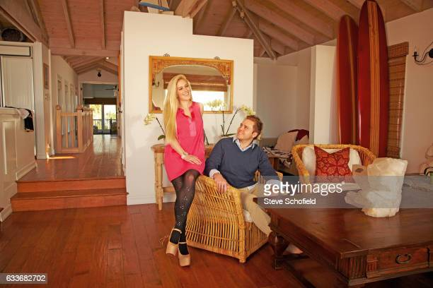Tv personalities Heidi Montag and Spencer Pratt are photographed at their home for OK Magazine on February 2 2013 in Santa Barbara California