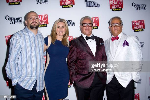 Tv personalities Jarrod Schultz Brandi Passante Michael Harris and Mark Harris attend the 1st annual 'RealityWanted' Reality TV Awards show at...