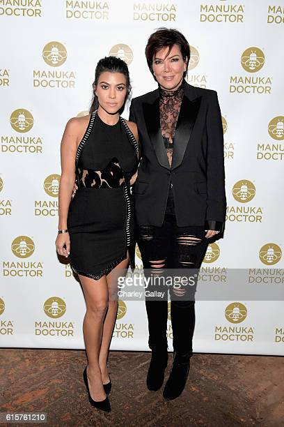 Tv personalities Kourtney Kardashian and Kris Jenner attend Cocktail Party With Manuka Doctor Global Brand Ambassador Kourtney Kardashian at Gracias...