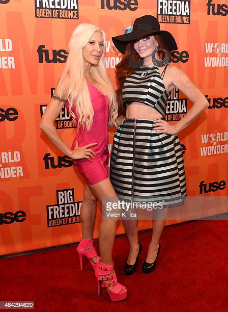 Tv personality Angelique Frenchy Morgan and actress Phoebe Price attend the 'Twerk Of Art' Photography Collection from Big Freedia at World Of Wonder...