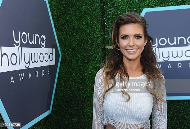 Tv personality Audrina Patridge attends the 2014 Young Hollywood Awards brought to you by Samsung Galaxy at The Wiltern on July 27 2014 in Los...