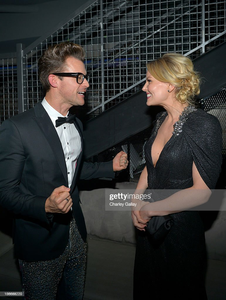 Tv personality Brad Goreski and actress Jennifer Morrison attend the Rolling Stone Magazine Official 2012 American Music Awards VIP after party presented by Nokia and Rdio at Rolling Stone Restaurant And Lounge on November 18, 2012 in Los Angeles, California.