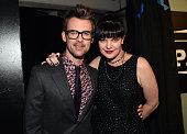 Tv personality Brad Goreski and actress Pauley Perrette attend TrevorLIVE LA 2015 at Hollywood Palladium on December 6 2015 in Los Angeles California