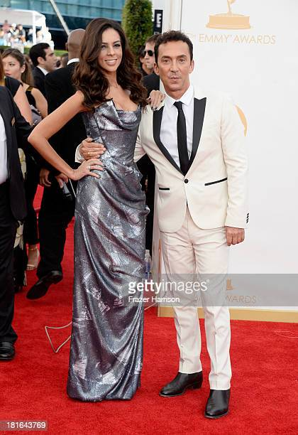 Tv personality Bruno Tonioli and Terri Seymour arrive at the 65th Annual Primetime Emmy Awards held at Nokia Theatre LA Live on September 22 2013 in...