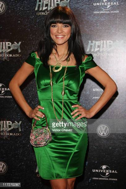 Tv personality Candela Ferro attends the premiere of Hellboy II The Golden Army at the Cinemex Antara on July 3 2008 in Mexico City