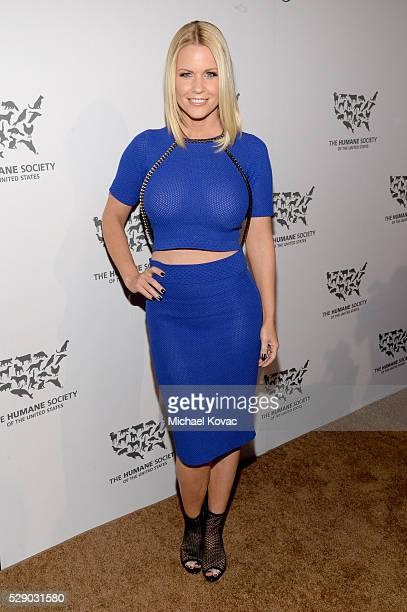 Tv personality Carrie Keagan attends The Humane Society of the United States' to the Rescue Gala at Paramount Studios on May 7 2016 in Hollywood...