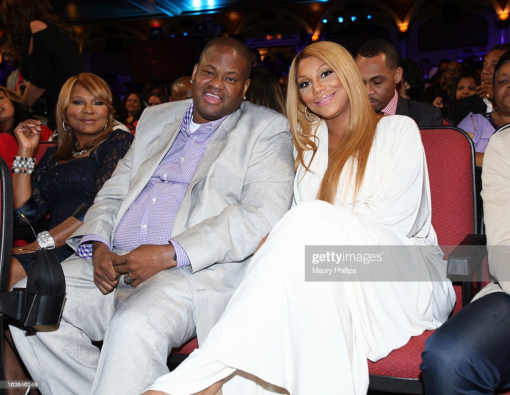 Tv personality Evelyn Braxton, record producer Vincent Herbert, and singer Tamar Braxton attend the BET Celebration of Gospel 2013 at Orpheum Theatre on March 16, 2013 in Los Angeles, California.
