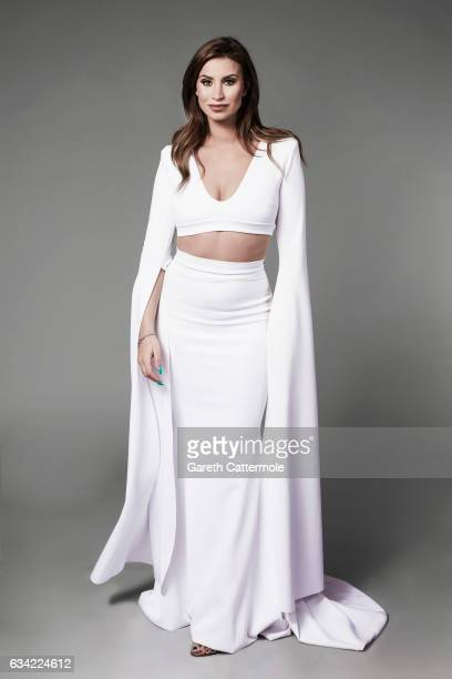 Tv personality Ferne McCann is photographed at the National Television Awards on January 25 2017 in London England