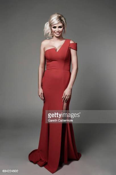 Tv personality glamour model and entrepreneur Chloe Sims is photographed at the National Television Awards on January 25 2017 in London England
