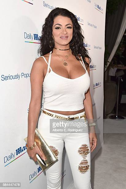 Tv personality Golnesa 'GG' Gharachedaghi attends the Daily Mail Summer White Party with Lisa Vanderpump at Pump on July 27 2016 in Los Angeles...
