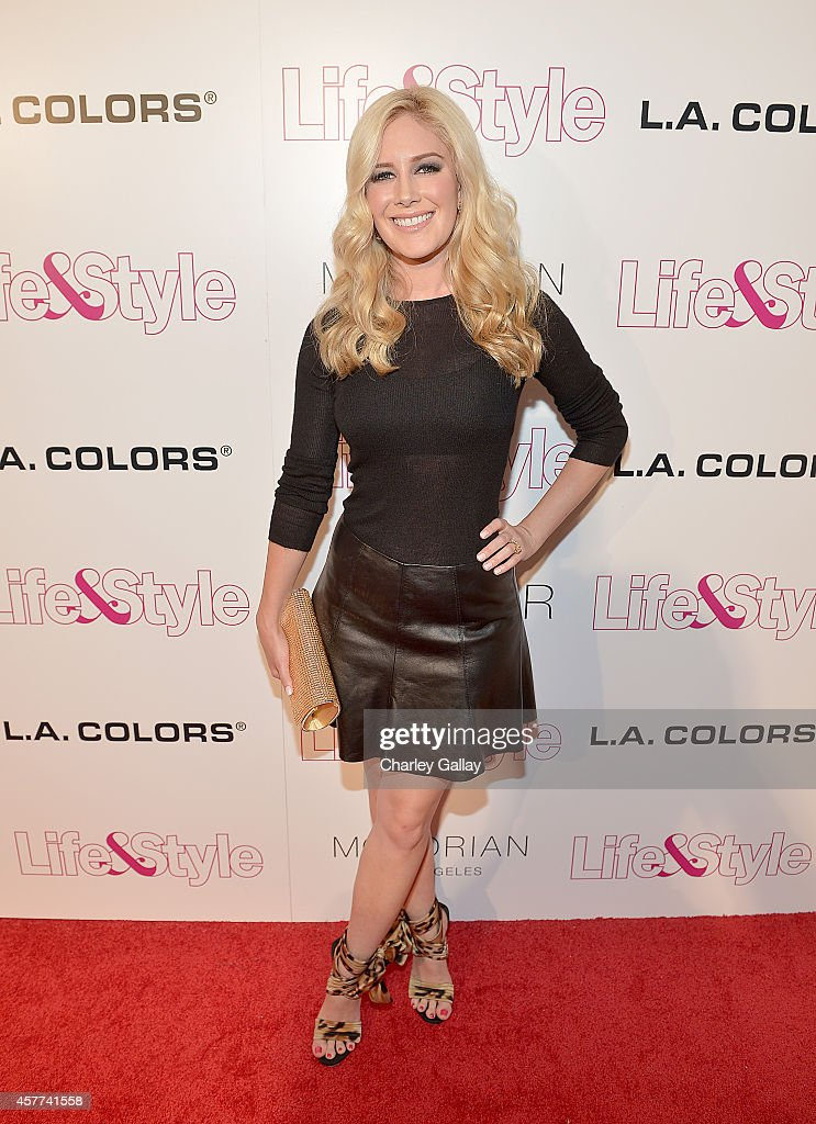 Tv Personality Heidi Montag attends Life Style Weekly's 10 Year Anniversary party at SkyBar at the Mondrian Los Angeles on October 23 2014 in West...