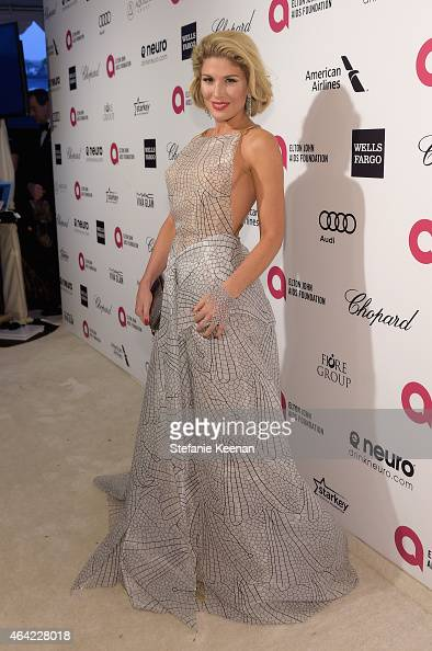 Tv personality Hofit Golan attends the 23rd Annual Elton John AIDS Foundation Academy Awards viewing party with Chopard on February 22 2015 in Los...