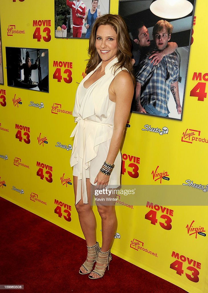 Tv personality Jill Wagner attends the premiere of Relativity Media's 'Movie 43' at TCL Chinese Theatre on January 23, 2013 in Hollywood, California.