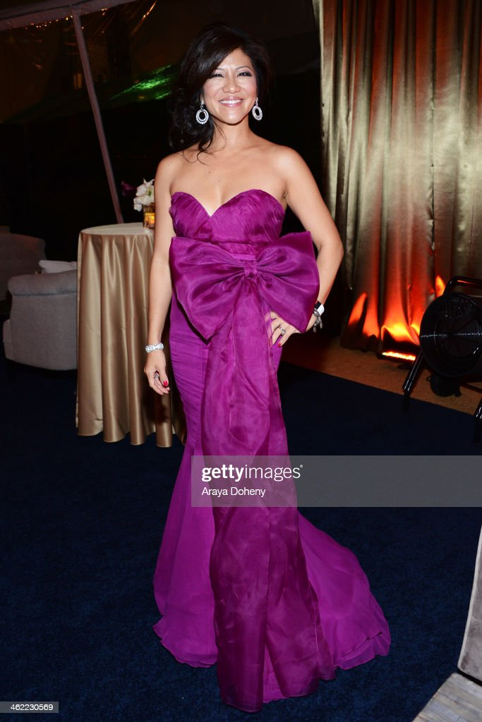Tv personality Julie Chen attends The Weinstein Company Netflix's 2014 Golden Globes After Party presented by Bombardier FIJI Water Lexus Laura...
