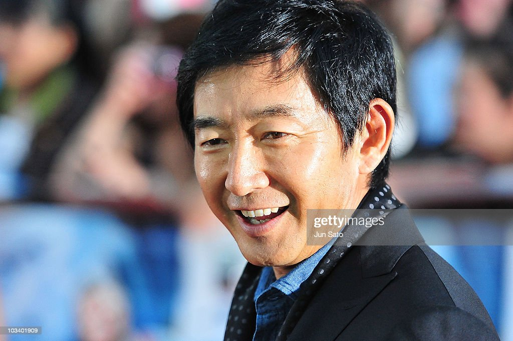 Tv personality Junichi Ishida arrives at 'The ATeam' movie premiere on August 16 2010 in Tokyo Japan The film will open on August 20 in Japan