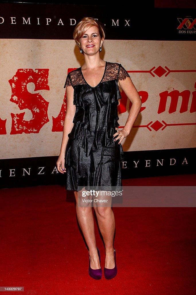Tv personality Karina Velasco attends the 'Casa De Mi Padre' Mexico City premiere at the Teatro Metropolitan on April 23, 2012 in Mexico City, Mexico.