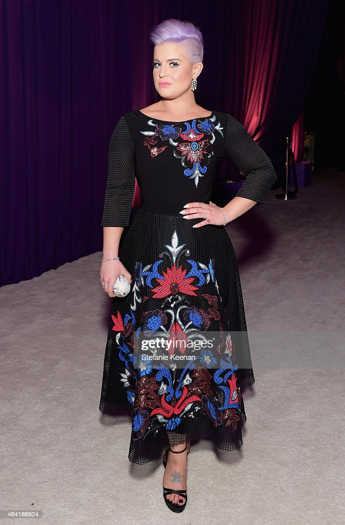 Tv personality Kelly Osbourne wearing Chopard attends the 23rd Annual Elton John AIDS Foundation Academy Awards viewing party with Chopard on...