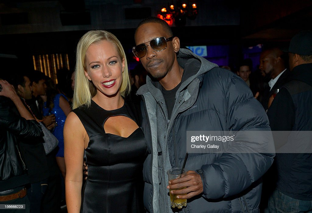 Tv personality Kendra Wilkinson (L) and Rapper Kurupt attend the Rolling Stone Magazine Official 2012 American Music Awards VIP after party presented by Nokia and Rdio at Rolling Stone Restaurant And Lounge on November 18, 2012 in Los Angeles, California.