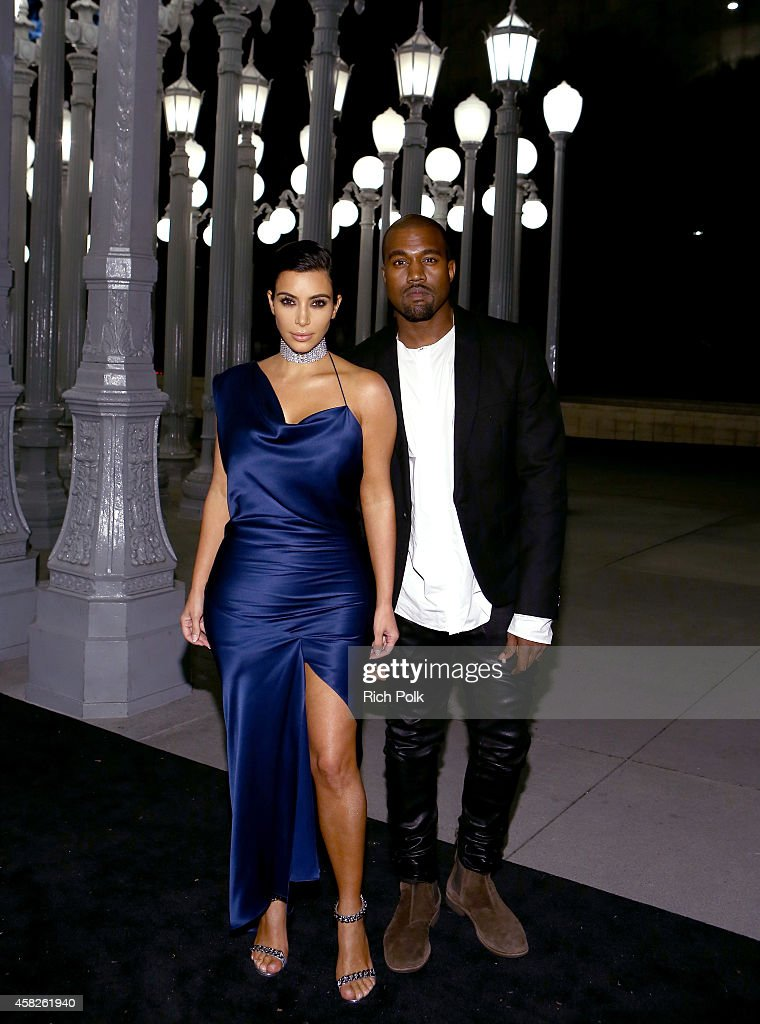 Tv personality Kim Kardashian and Recording artist Kanye West attend the 2014 LACMA Art Film Gala honoring Barbara Kruger and Quentin Tarantino...