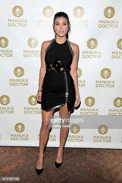 Tv personality Kourtney Kardashian attends Cocktail Party With Manuka Doctor Global Brand Ambassador Kourtney Kardashian at Gracias Madre on October...