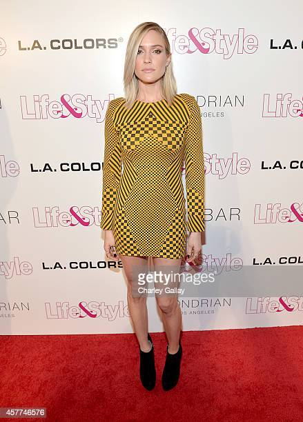 Tv Personality Kristin Cavallari attends Life Style Weekly's 10 Year Anniversary party at SkyBar at the Mondrian Los Angeles on October 23 2014 in...