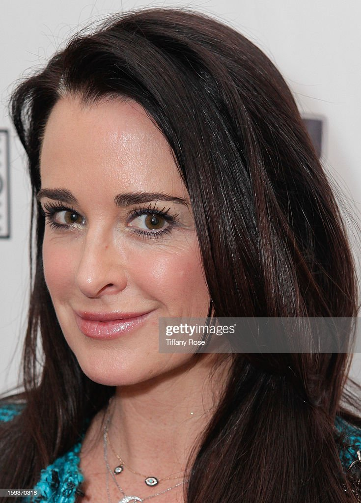 Tv personality Kyle Richards attends the Colgate Optic White beauty bar - Day 2 at Salon 901 on January 12, 2013 in West Hollywood, California.