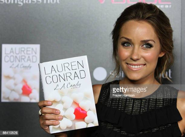 Tv Personality Lauren Conrad arrives at the Vogue Eyewear Sunglass Hut host the launch of her book 'LA Candy' at Thompson Hotel on June 10 2009 in...