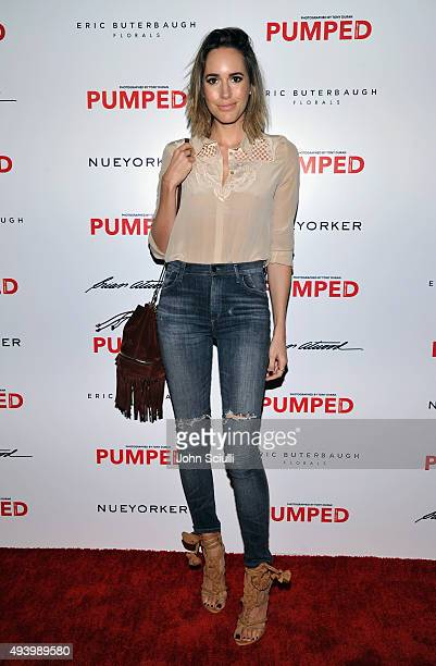 Tv personality Louise Roe attends Brian Atwood's Celebration of PUMPED hosted by Melissa McCarthy and Eric Buterbaugh on October 23 2015 in Los...