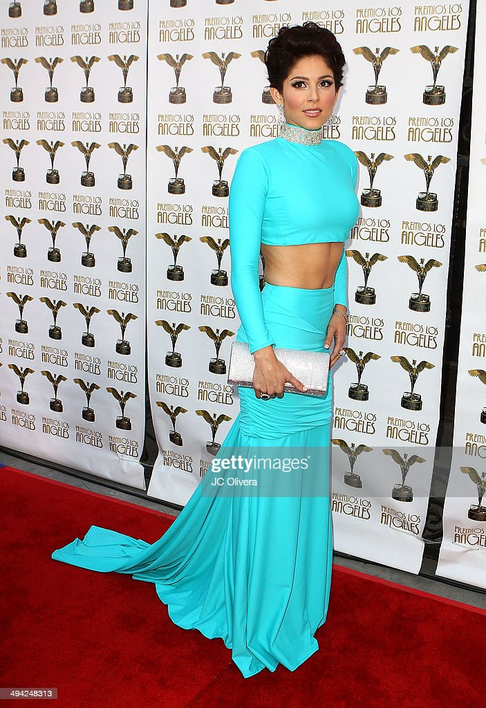 Tv personality Lucy Garcia arrives at Premios Los Angeles 2014 at The Theatre at Ace Hotel Downtown LA on May 28, 2014 in Los Angeles, California.