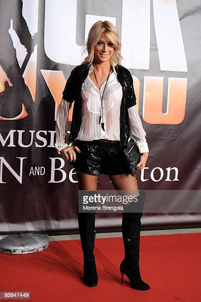 Tv personality Maddalena Corvaglia attends the press night of 'We Will Rock You' at Teatro Allianz on December 4 2009 in Milan Italy